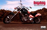 American Flag Bigdog Motorcycle  Wallpaper