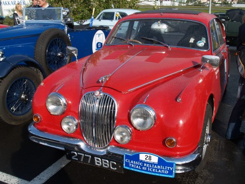 Collector Cars - A nice fire engine red Jaguar.