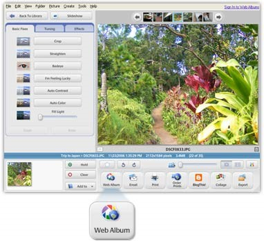 Free Photo Editing Programs - Picasa