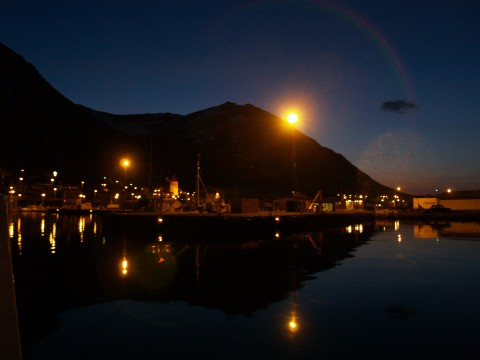 Siglufjörður harbor in the twilight time