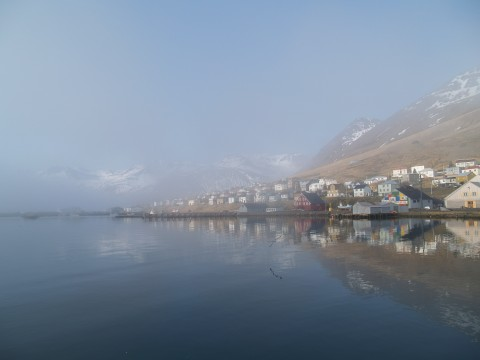 Early morning in the beautiful town of Siglufjörður