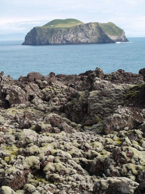 Vestmannaeyjar - Bjarnarey and the new lava