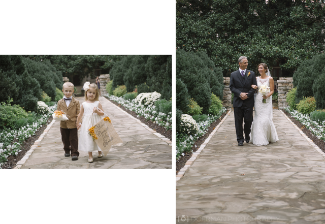 bride-father-ring-bearer-flower-girl-walking-down-the-aisle